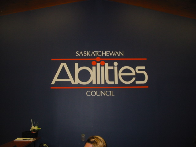 Vinyl wall graphics Saskatchewan Abilities Council