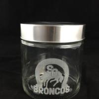 Broncos engraved jars