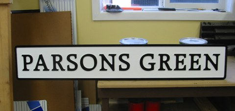 Routered PVC address marker sign
