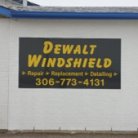 Exterior panel sign for Dewalt Windshield