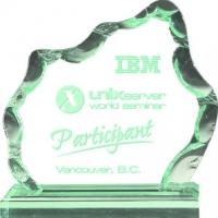 Jade iceberg acrylic award