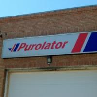 Internally illuminated sign for Purolator Freight