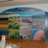 Wall mural for Prairie Wind & Silver Sage Gallery & Museum, Val Marie, SK