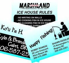 Ice Fishing Shack signs